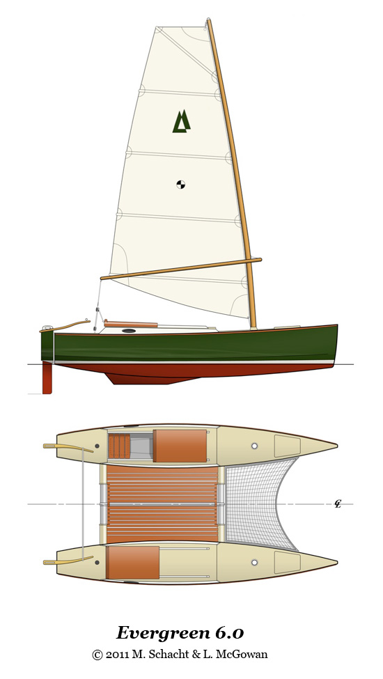 Small Catamaran Sailboats