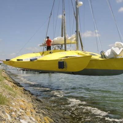 Launching on the Golf du Morbihan