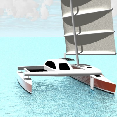 16m cruising proa concept