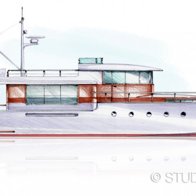 Self promotion - Gatsby fantail motor yacht