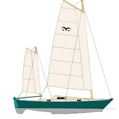 Mana 24 sailplan