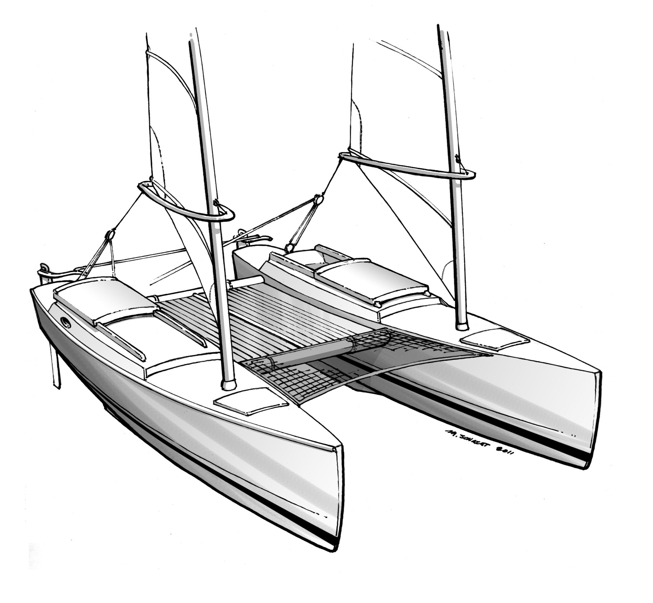 Proa File | Evergreen - a Fast Expedition Catamaran