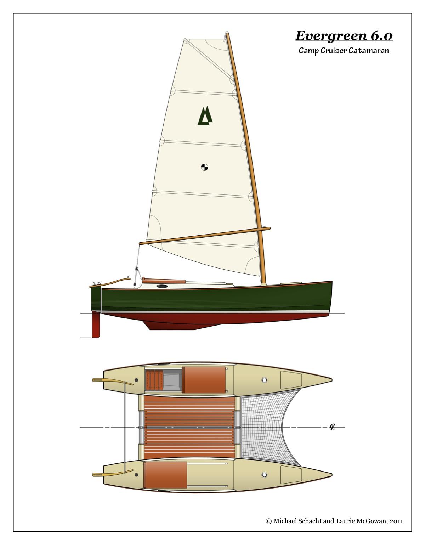 Proa File   Evergreen - a Fast Expedition Catamaran