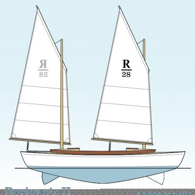 Rozinante 2 sailplan